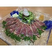 Gyutataki: Lomo alto de Buey Simmental D/O Alemania braseado con salsa ponzu