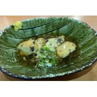 Hirousu: Tofu y Langostino relleno de verduras con salsa de cangrejo