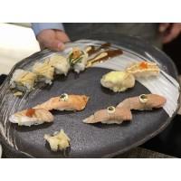Sushi variado, estilo MIYAMA (6 pzas. de nigiri flambeado, ½ ¨Ebi Fry¨)