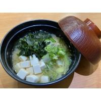 Sopa miso de tofu y algas