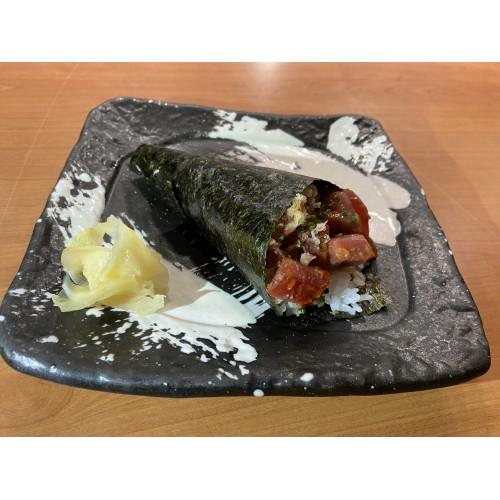 Temaki de atún picante